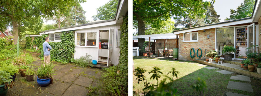 Back garden, before and after