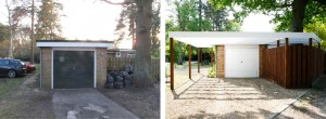 Carport before and after