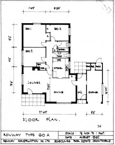 Renway Type 60a Bungalow architect drawing 1968