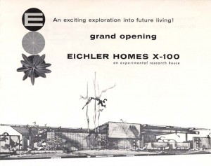 Eichler X-100 brochure cover, 1956