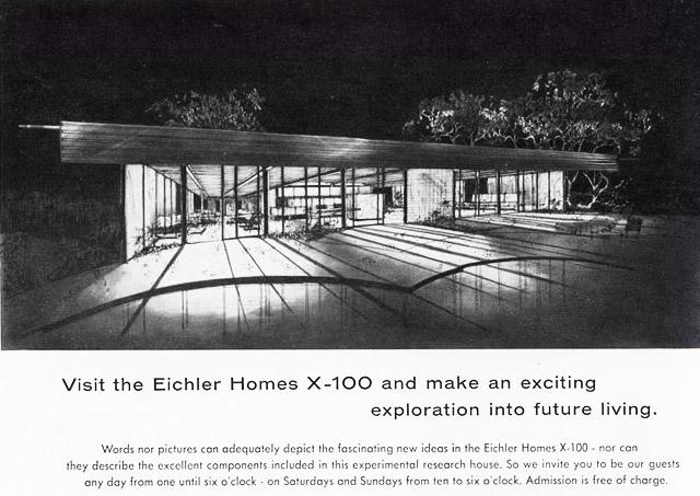 Eichler X-100 rear view illustration